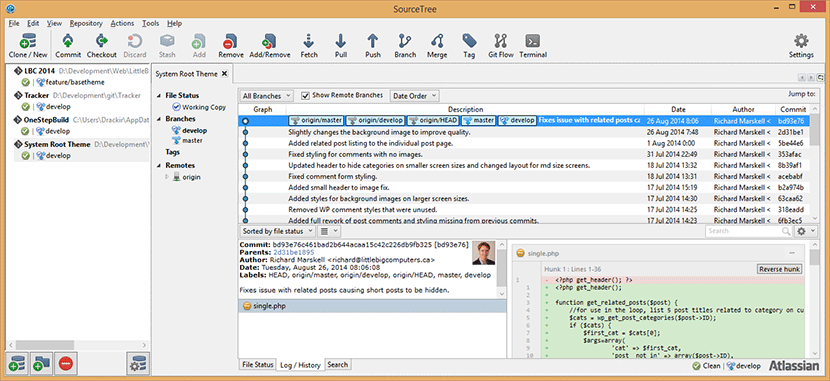 SourceTree Screenshot
